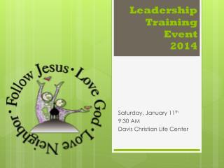 Leadership Training Event 2014