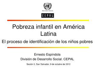 Pobreza infantil en América Latina