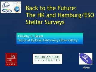 Back to the Future:   The HK and Hamburg/ESO Stellar Surveys