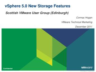 vSphere 5.0 New Storage Features