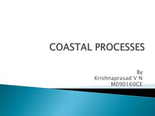 COASTAL PROCESSES