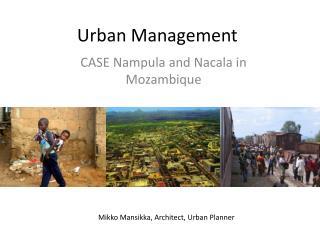 Urban  Management