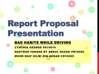 Report Proposal Presentation