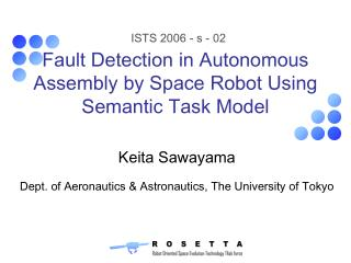 Fault Detection in Autonomous Assembly by Space Robot - Home ...