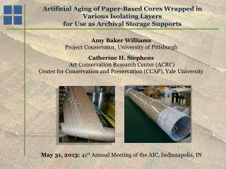 Artificial Aging of Paper-Based Cores Wrapped in Various Isolating Layers