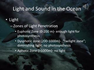 Light and Sound in the Ocean