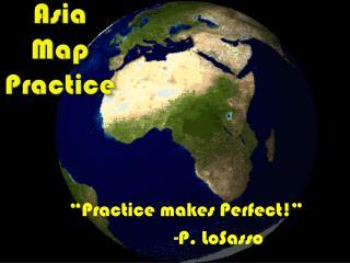 Asia Map Practice