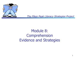 Module 8: Comprehension Evidence and Strategies