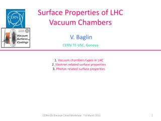 Surface Properties of LHC Vacuum Chambers
