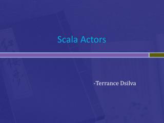 Scala  Actors