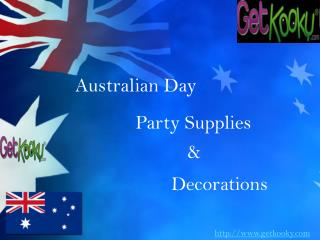 Australian Day Party Supplies & Decorations