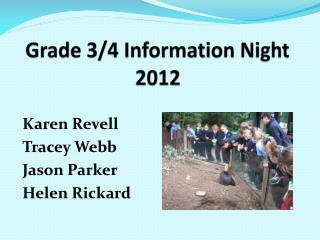Grade 3/4 Information Night 2012