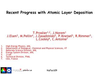 Recent Progress with Atomic Layer Deposition
