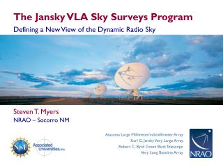The Jansky VLA Sky Surveys Program