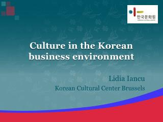 Culture in the Korean business environment