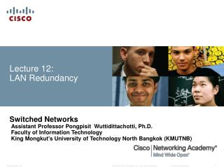 Lecture 12:  LAN Redundancy