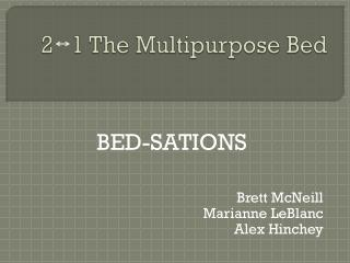 2   1 The Multipurpose Bed
