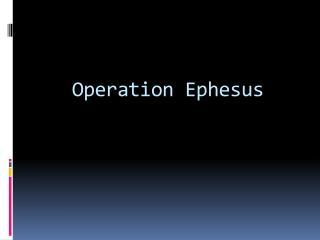 Operation Ephesus