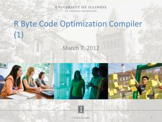 R Byte Code Optimization Compiler (1)