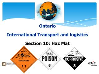Ontario International Transport and logistics Section 10:  Haz  Mat
