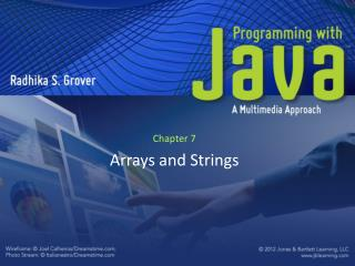 Chapter 7 Arrays and Strings