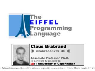 The E I F F E L Programming Language