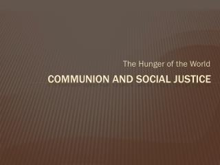 Communion and social justice