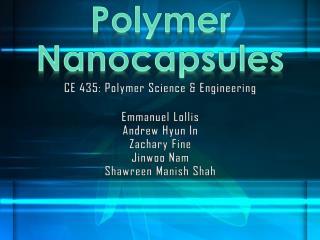 Polymer Nanocapsules