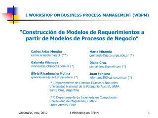 """""""Construcción  de Modelos de Requerimientos a partir de Modelos de Procesos de  Negocio"""""""