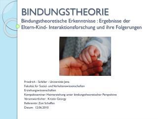 Friedrich - Schiller - Universität Jena Fakultät für Sozial- und Verhaltenswissenschaften