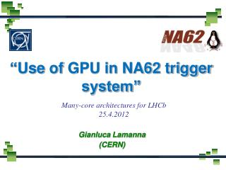 """ Use of  GPU in NA62 trigger system"""
