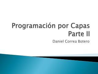 Programación por Capas Parte II