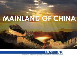 MAINLAND OF CHINA