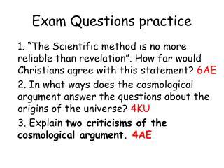 Exam Questions practice