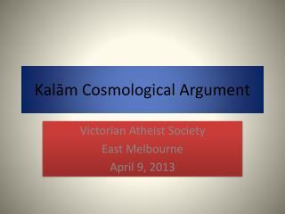 Kalām Cosmological Argument