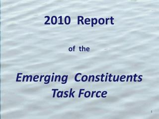 Report of  the Emerging  Constituents Task Force