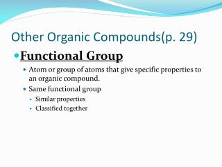 Other Organic Compounds(p. 29)