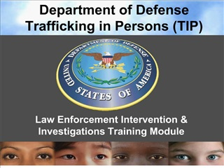 Department of Defense Trafficking in Persons TIP