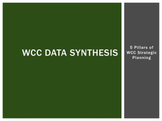 WCC Data Synthesis