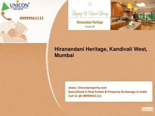 Hiranandani Heritage Mumbai-Call 09999561111 for booking