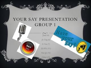 Your Say Presentation Group 1