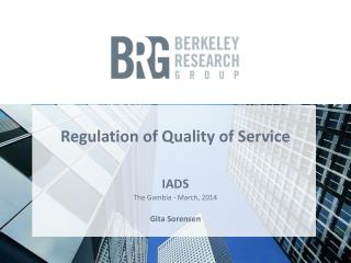 Regulation of Quality of Service