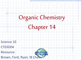 Organic Chemistry Chapter 14