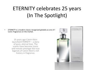 ETERNITY celebrates 25 years  (In The Spotlight)