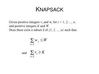 K NAPSACK