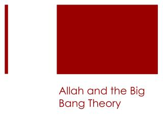 Allah and the Big Bang Theory