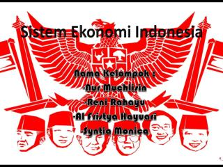 Sistem  E konomi  I ndonesia