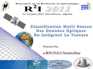 Classification Multi Source Des Données Optiques En Intégrant La Texture