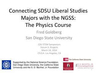 Connecting SDSU Liberal Studies Majors with the NGSS:  The Physics Course