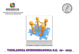 VIGILANCIA EPIDEMIOLOGICA S.E.   19 -  2013